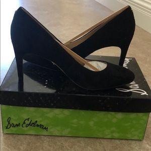 BRAND NEW *Sam Edelman Size 7 Black Suede Heels